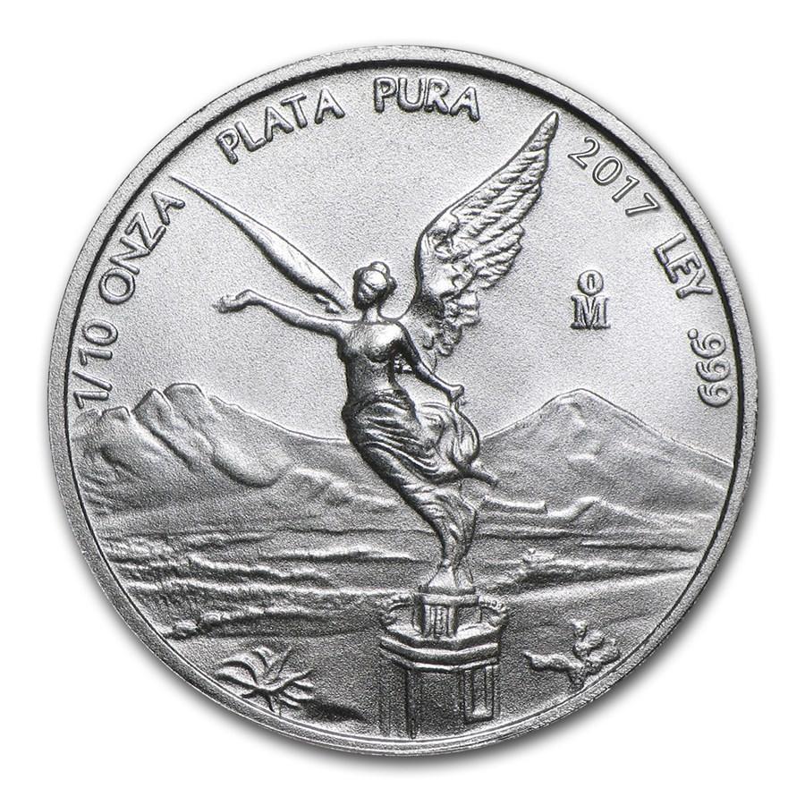 2017 Mexico 1/10 oz Silver Libertad BU