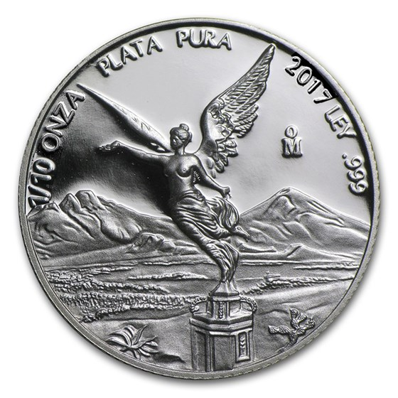 2017 Mexico 1/10 oz Silver Libertad Proof (In Capsule)