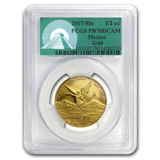 2017 Mexico 1/2 oz Proof Gold Libertad PR-70 PCGS