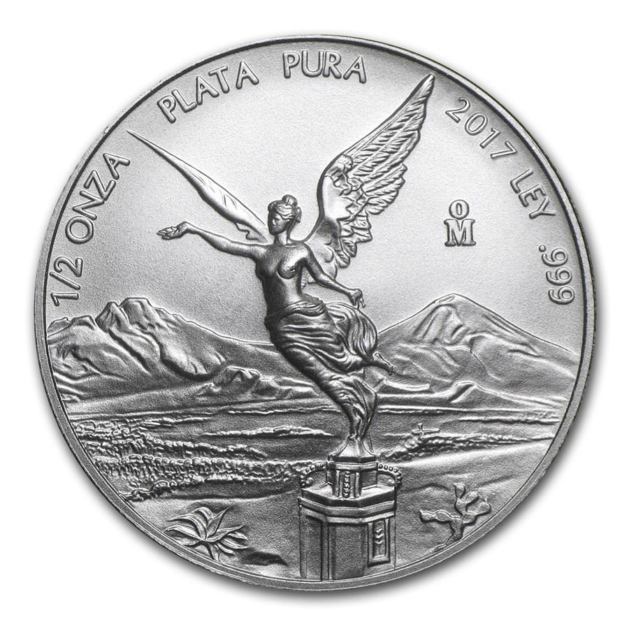 2017 Mexico 1/2 oz Silver Libertad BU