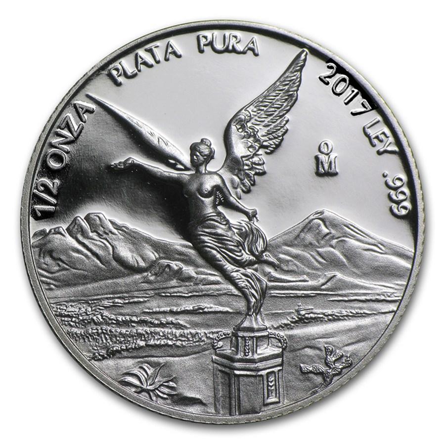 2017 Mexico 1/2 oz Silver Libertad Proof (In Capsule)