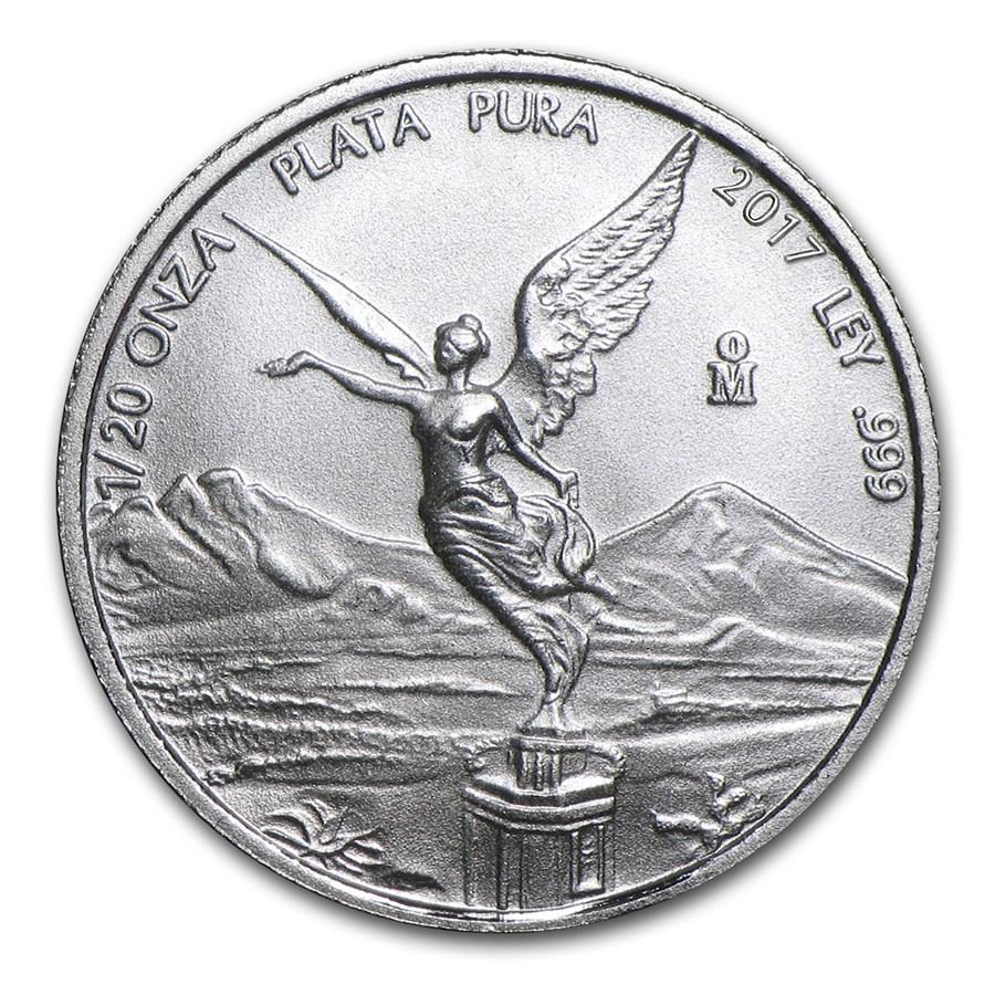 2017 Mexico 1/20 oz Silver Libertad BU