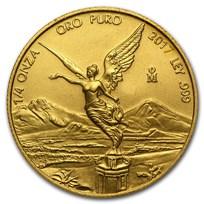 2017 Mexico 1/4 oz Gold Libertad BU