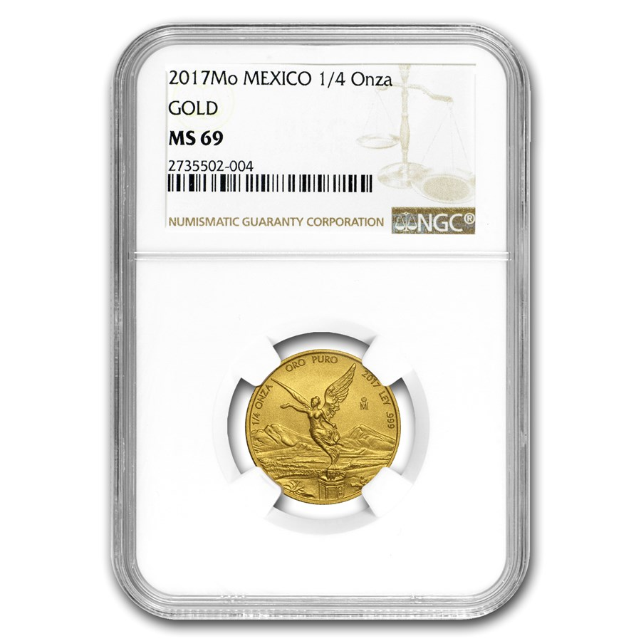 2017 Mexico 1/4 oz Gold Libertad MS-69 NGC
