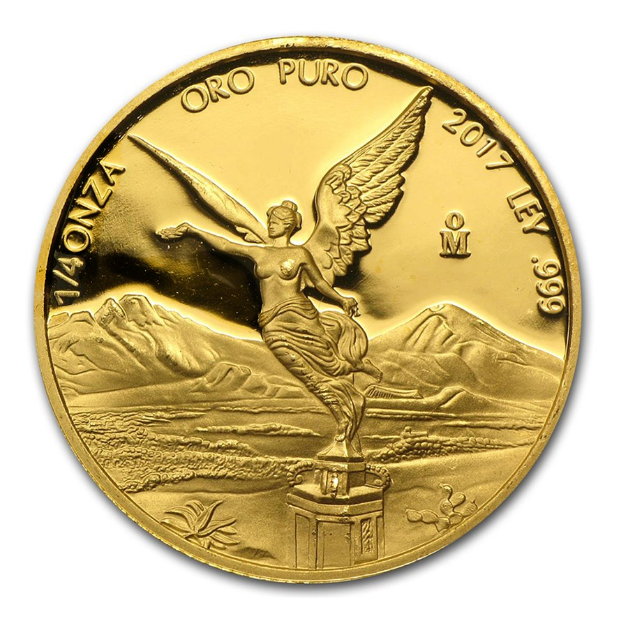 2017 Mexico 1/4 oz Proof Gold Libertad