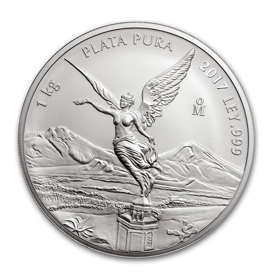 2017 Mexico 1 kilo Silver Libertad BU (In Capsule)