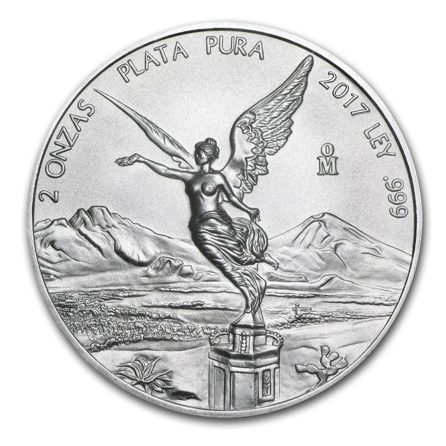 2017 Mexico 2 oz Silver Libertad BU