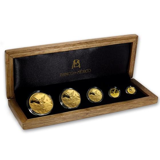 2017 Mexico 5-Coin Gold Libertad Proof Set (1.9 oz, w/ Box & COA)