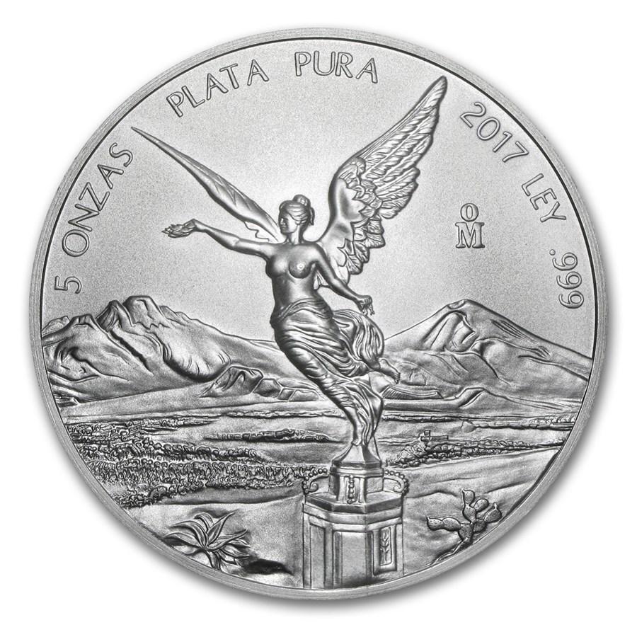 2017 Mexico 5 oz Silver Libertad BU