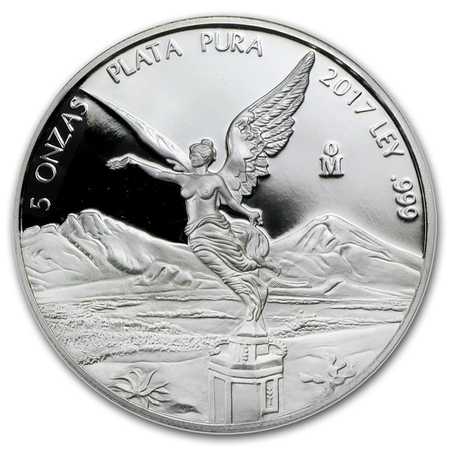 2017 Mexico 5 oz Silver Libertad Proof (In Capsule)