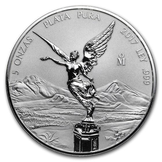 2017 Mexico 5 oz Silver Reverse Proof Libertad