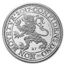 2017 Netherlands 1 oz Silver Lion Dollar Restrike (BU)