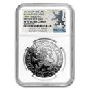 2017 Netherlands 1 oz Silver Lion Dollar Restrike PF-70 NGC