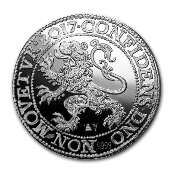 2017 Netherlands 1 oz Silver Proof Lion Dollar (w/Box & COA)
