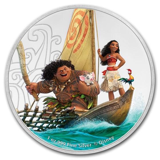 2017 Niue 1 oz Silver $2 Disney Moana