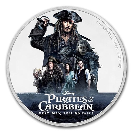 2017 Niue 1 oz Silver $2 Disney Pirates of the Caribbean