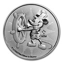 2017 Niue 1 oz Silver $2 Disney Steamboat Willie BU