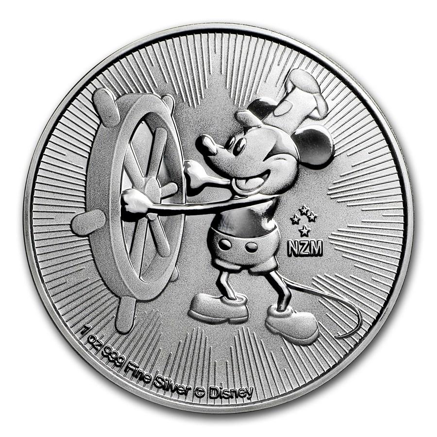 2017 Niue 1 oz Silver $2 Disney Steamboat Willie BU