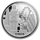 2017 Niue 1 oz Silver $2 Great Cities London