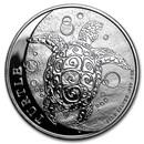 2017 Niue 1 oz Silver $2 Hawksbill Turtle