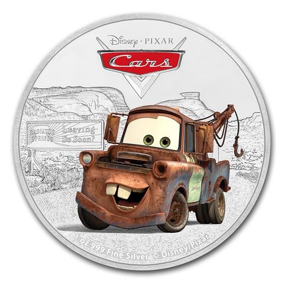 2017 Niue 1 oz Silver $2 Pixar Cars: Tow Mater