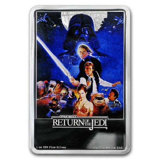 2017 Niue 1 oz Silver $2 Return of the Jedi Poster (No Outer Box)