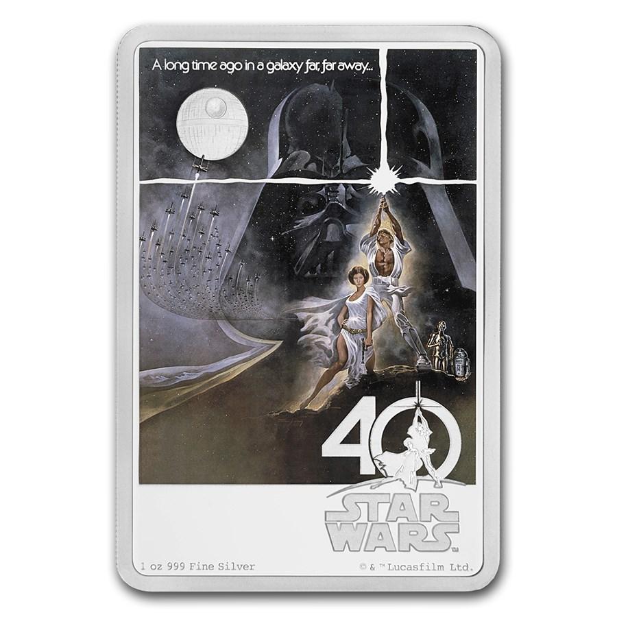 2017 Niue 1 oz Silver $2 Star Wars 40th Anniversary (w/Box & COA)