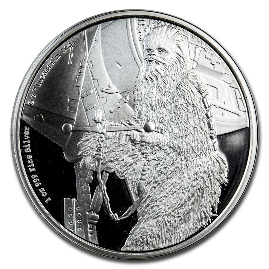 2017 Niue 1 oz Silver $2 Star Wars Chewbacca Proof (Capsule Only)