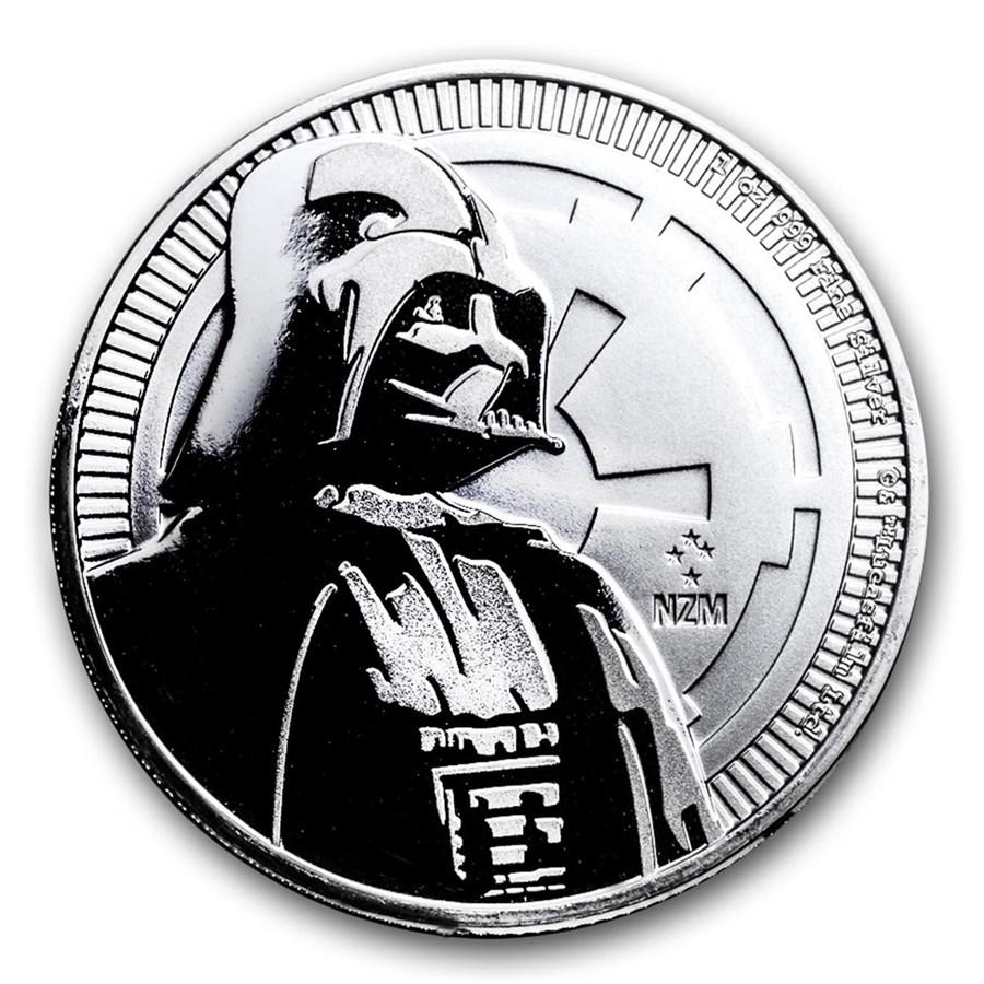 2017 Niue 1 oz Silver $2 Star Wars Darth Vader BU