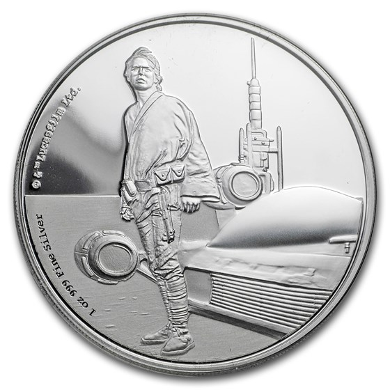 2017 Niue 1 oz Silver $2 Star Wars Luke Skywalker (w/Box & COA)