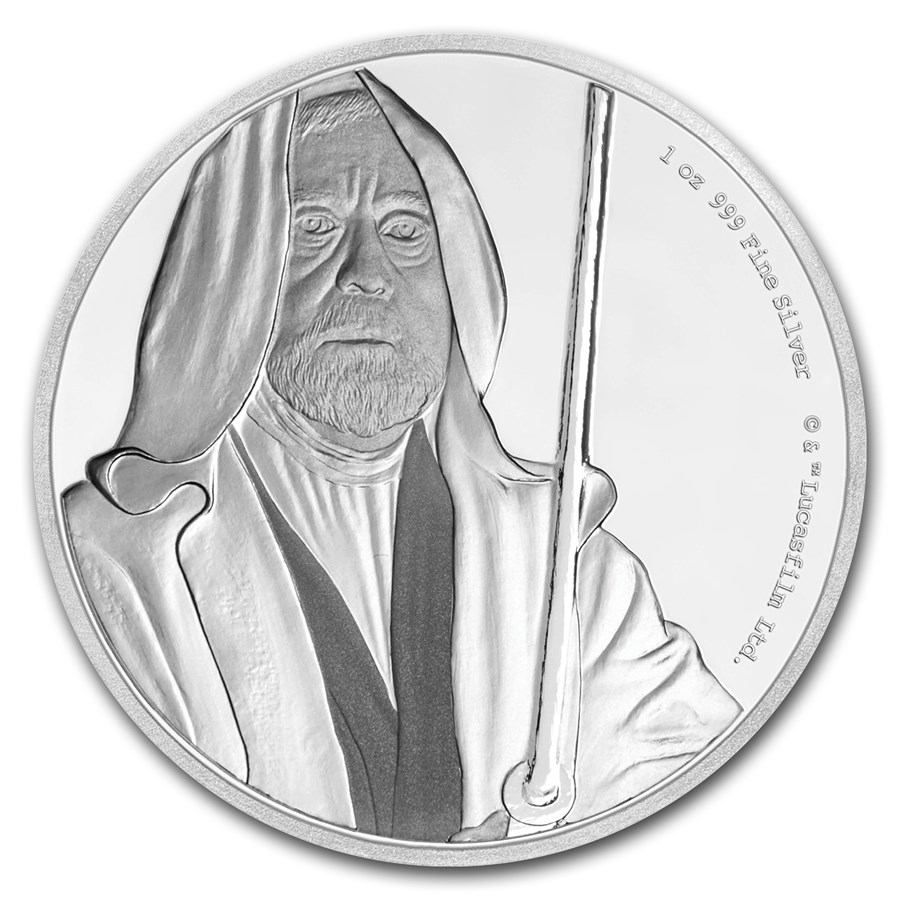 2017 Niue 1 oz Silver $2 Star Wars Obi-Wan Kenobi (w/Box & COA)