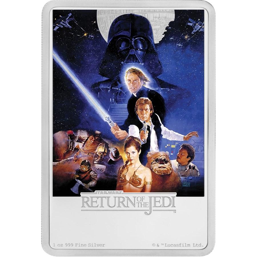 2017 Niue 1 oz Silver $2 Star Wars Return of the Jedi Poster
