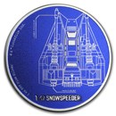 2017 Niue 1 oz Silver $2 Star Wars Ships: T-47 Snowspeeder Proof