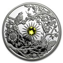 2017 Niue 2 oz Proof Silver The Four Seasons (Spring)