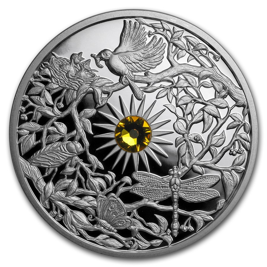 2017 Niue 2 oz Proof Silver The Four Seasons (Summer)