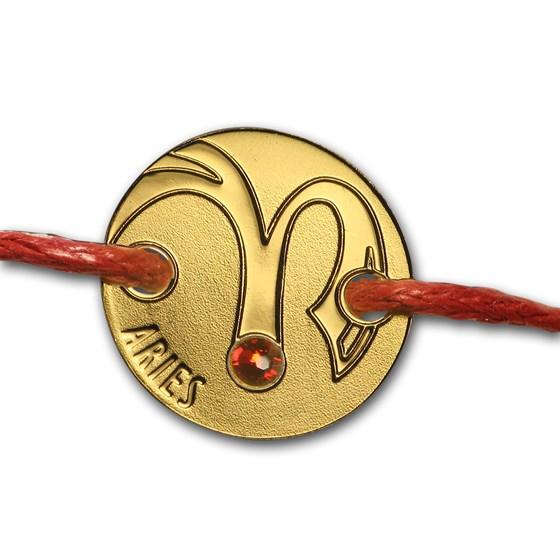 2017 Niue Gold Coin Bracelet Zodiac Signs (Aries)