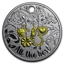 2017 Niue Silver All the Best Coin Key Ring