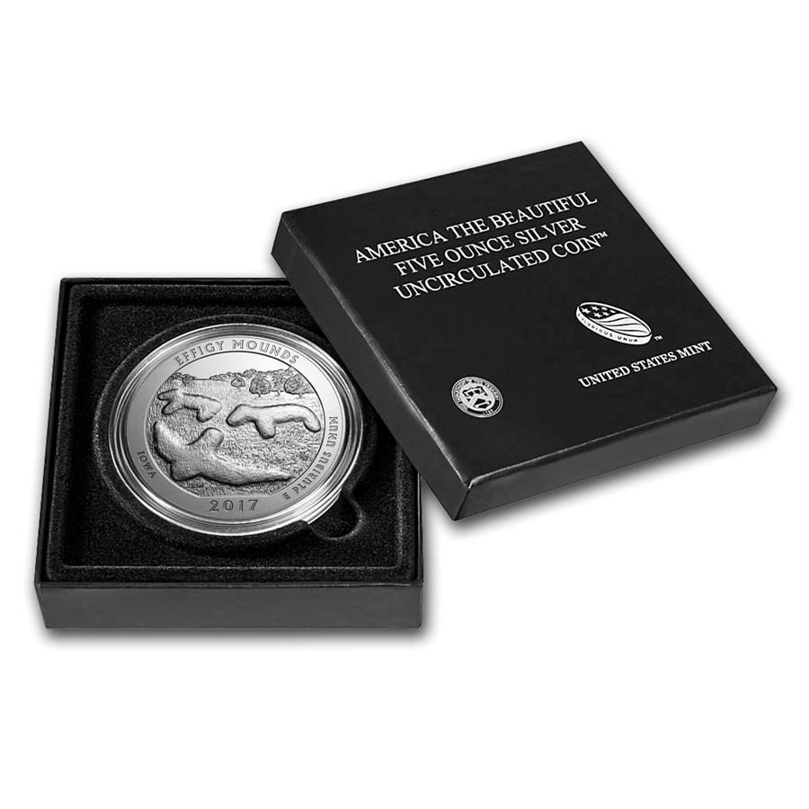 2017-P 5 oz Silver ATB Effigy Mounds (w/Box & COA)