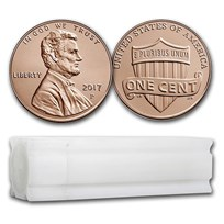 2017-P Lincoln Cent 50-Coin Roll BU