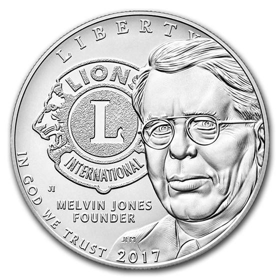 2017-P Lions Club International Silver Proof (Box & COA)