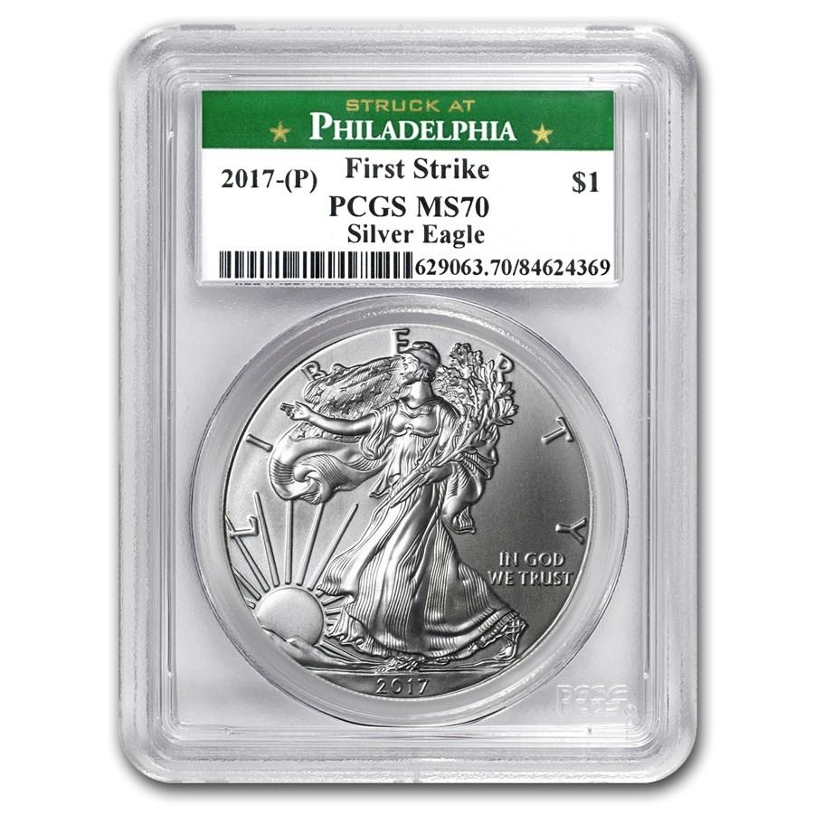 2017 (P) Silver American Eagle MS-70 PCGS (FS, Philadelphia Mint)
