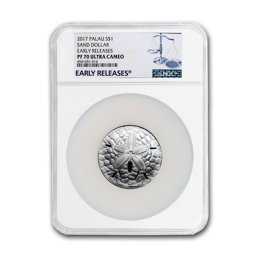 2017 Palau 1 oz Silver $1 Sand Dollar Coin PF-70 NCG ER