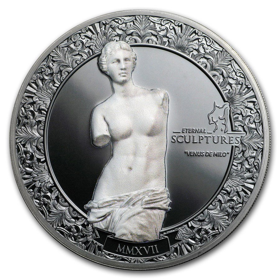 2017 Palau 2 oz Silver $10 Eternal Sculptures (Venus de Milo)