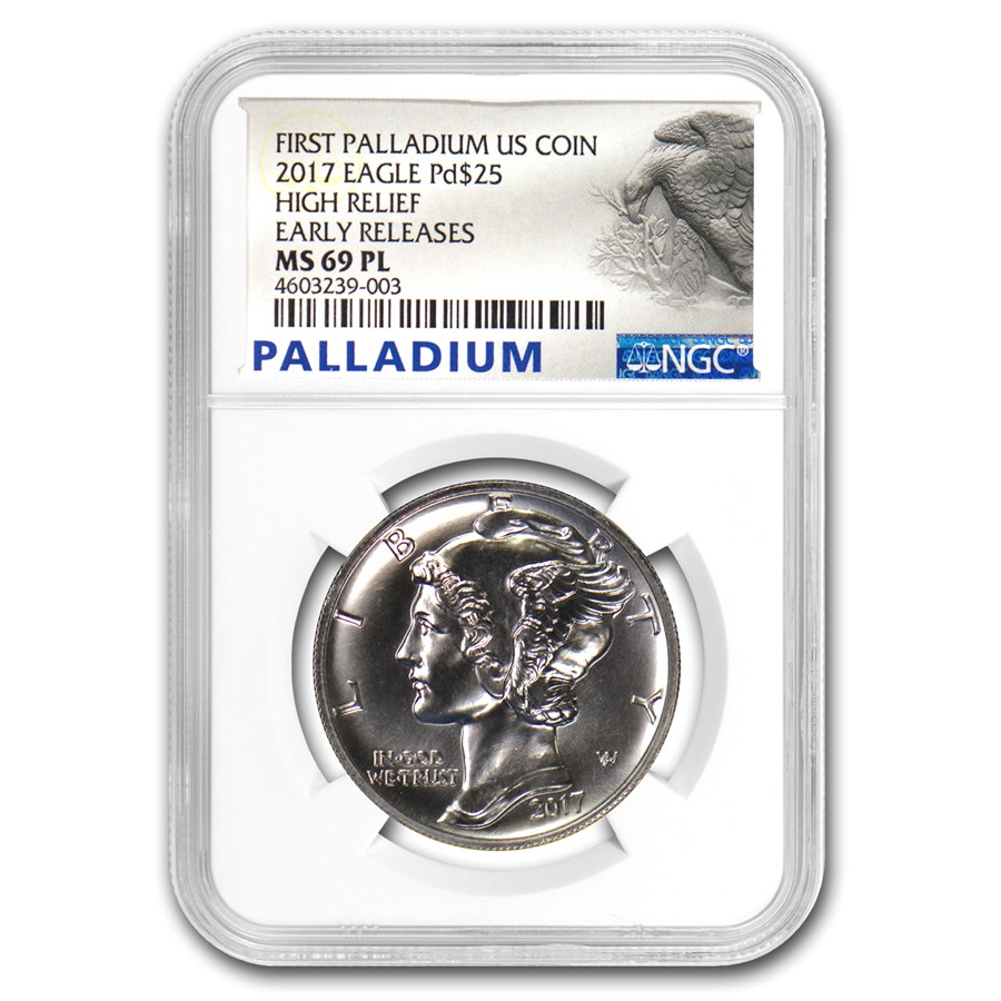 2017 Palladium Eagle MS-69 PL NGC (Early Releases, Prooflike)