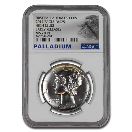 2017 Palladium Eagle MS-70 PL NGC (Early Releases, Prooflike)