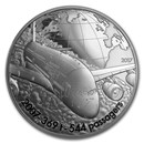 2017 Proof Silver €10 Aviation & History (Airbus A380)