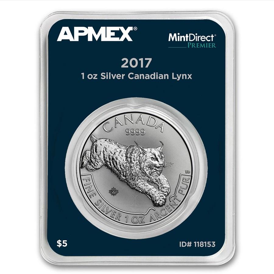 2017 RCM 1 oz Silver Predator Lynx (MintDirect® Premier Single)
