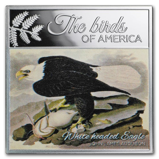 2017 Rep. of Cameroon Silver The Birds of America (Eagle)
