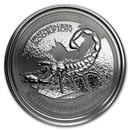 2017 Republic of Chad 1 oz Silver Deathstalker Scorpion BU
