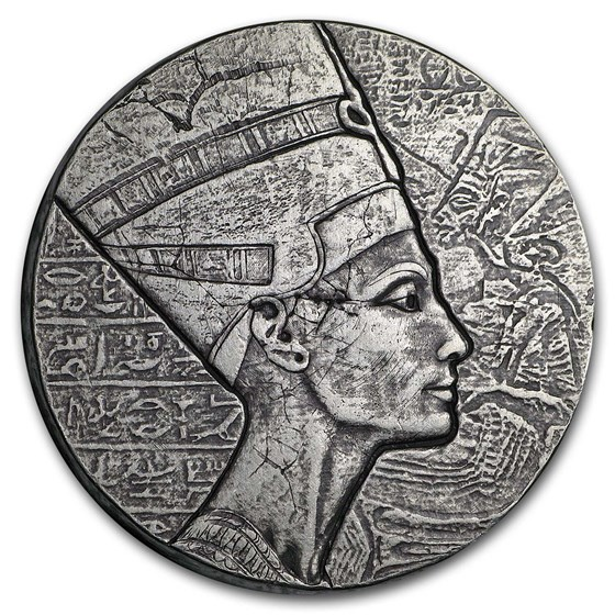 2017 Republic of Chad 5 oz Silver Queen Nefertiti